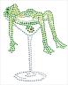 Frog in Martini Glass
